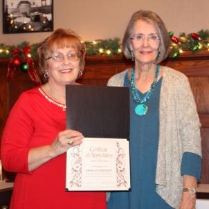Marily Ferguson receiving an award